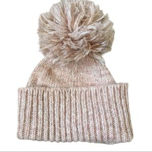 3 for $25 Cotton blend beanie large pompom